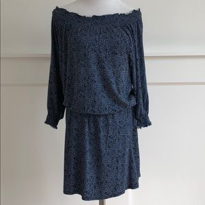 Joie Off the Shoulder Patterned Dress